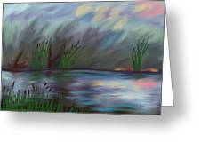 Spring Reed In The Canyon Greeting Card