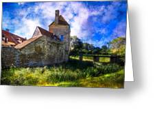 Spring Romance In The French Countryside Greeting Card by Debra and Dave Vanderlaan