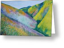 Valley Of Flowers Greeting Card
