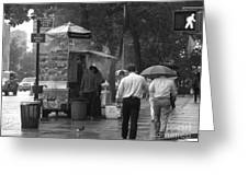 Spring Shower - Rainy Day In New York Greeting Card