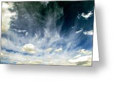 Spring Sky Greeting Card by Andrea Dale