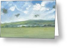 Spring Sky Bembridge Down Greeting Card by Alan Daysh