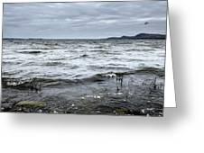Spring Storm On Lake Champlain Greeting Card