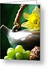 Spring Tea Greeting Card