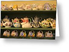 Spring Teapots  Greeting Card