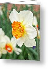 Spring Texture Greeting Card by Cathie Tyler