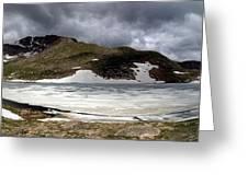 Mountain Lake Spring Thaw Greeting Card
