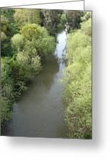 Spring Time Embracing The Jordan River Greeting Card by Rita Adams