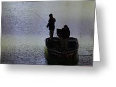 Spring Time Fishing Greeting Card