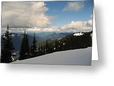 Spring Time Skiing At Crystal Greeting Card