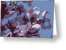 Spring Tulip Tree Abstract Greeting Card