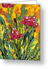 Spring Tulips Triptych Panel 3 Greeting Card
