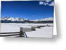 Spring View Of The Sawtooth Mountains Greeting Card