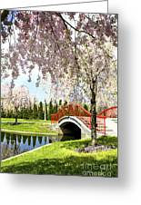 Spring Walk Around Lake Greeting Card