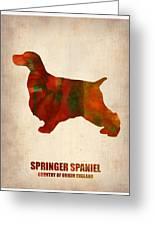 Springer Spaniel Poster Greeting Card by Naxart Studio