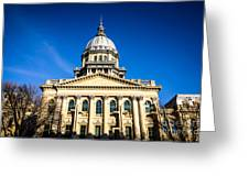Springfield Illinois State Capitol Building Greeting Card by Paul Velgos