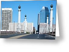 Springfield Memorial Bridge Greeting Card