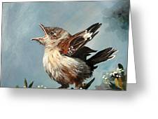 Spring's Promise - Mockingbird Baby Greeting Card by Suzanne Schaefer
