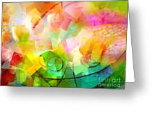 Springtime Abstract Greeting Card