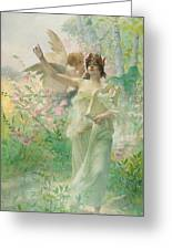 Springtime Allegory Greeting Card