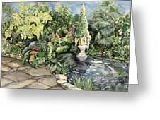 springtime at the Allan gardens Greeting Card