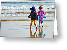 Springtime At The Seaside Greeting Card