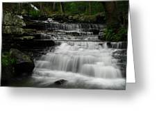 Springtime Cascades At Collins Creek Greeting Card