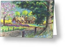 Springtime Cottage Greeting Card