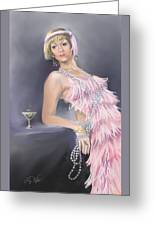 Springtime Flapper Greeting Card