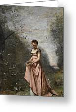 Springtime Of Life Greeting Card by Jean Baptiste Camille Corot
