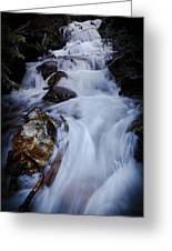 Springtime Waterfall Greeting Card