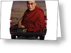 Sprinter Dalai Lama Greeting Card