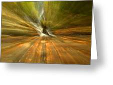 Spruce Flats Falls Explosion Greeting Card