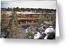 Spruce Tree Cliff Dwelling Canyon Greeting Card