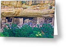 Spruce Tree House On Chapin Mesa In Mesa Verde National Park-colorado  Greeting Card
