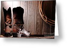 Spurs On Cowboy Boots Heels Greeting Card