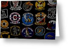 Squadron Patch Collage Greeting Card