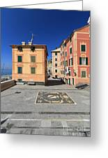 square in Sori - Italy Greeting Card