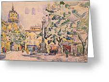Square Of The Hotel De Ville Greeting Card