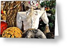 Square Scarecrow Greeting Card