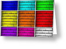 Squared Color Wall  Greeting Card