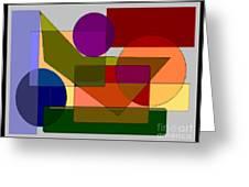 Squares Circles Greeting Card