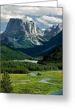 Squaretop Mountain 3 Greeting Card