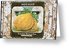 Squash On Vintage Tin Greeting Card