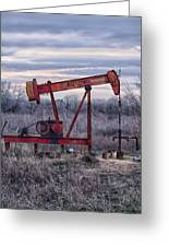 Squeaky Old Pump Jack Greeting Card by Kelly Kitchens