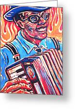 Squeezebox Blues Greeting Card