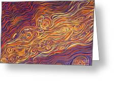 Squiggle Stream Greeting Card