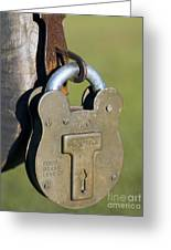 Squire Brass Lock Greeting Card