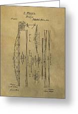 Squire Whipple Truss Bridge Patent Greeting Card