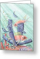 Squirrel Fish Reef Greeting Card by Wayne Hardee